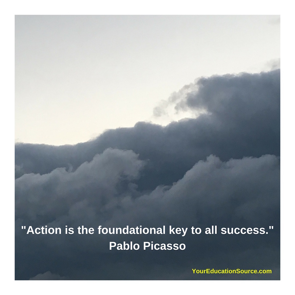 Action is the key to success Your Education Source