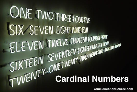 Cardinal Numbers YourEducationSource.com