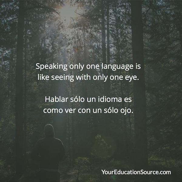 Hablar solo un idioma YourEducationSource.com